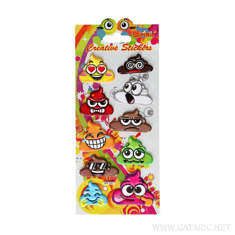 Dekorativni stiker ''Puffy Poopo''