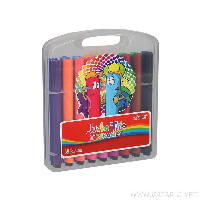 Fiber pens ''JUMBO TRIO'', PVC box