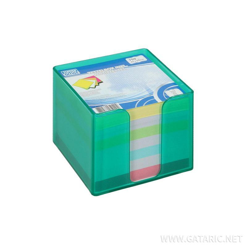 Kocka Blok u PVC Kutiji, 83x83mm