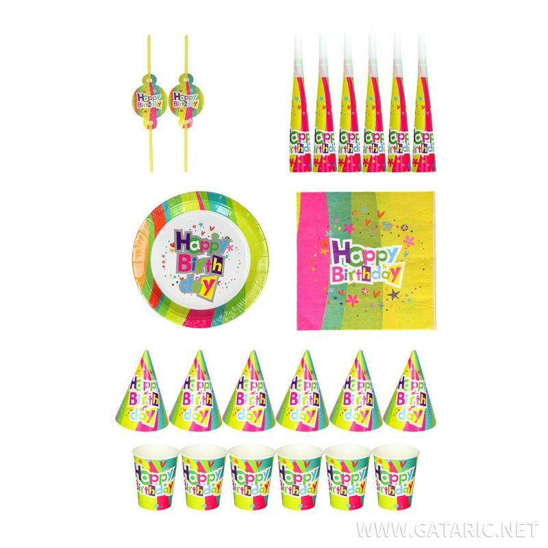 Party set ''Happy Birthday'', 6-pcs