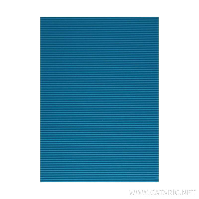 Bastelwellpappe Standard, Blau