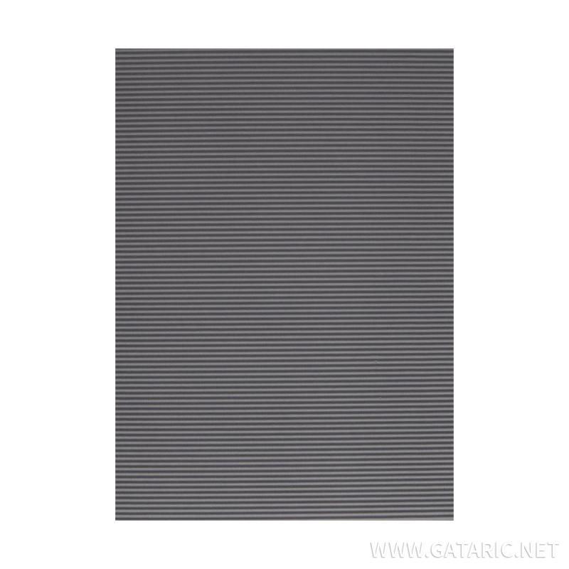 Bastelwellpappe Standard 1/1, Grau