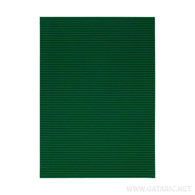 Karton rebrasti, zelena