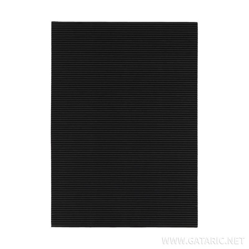 Karton rebrasti, crna