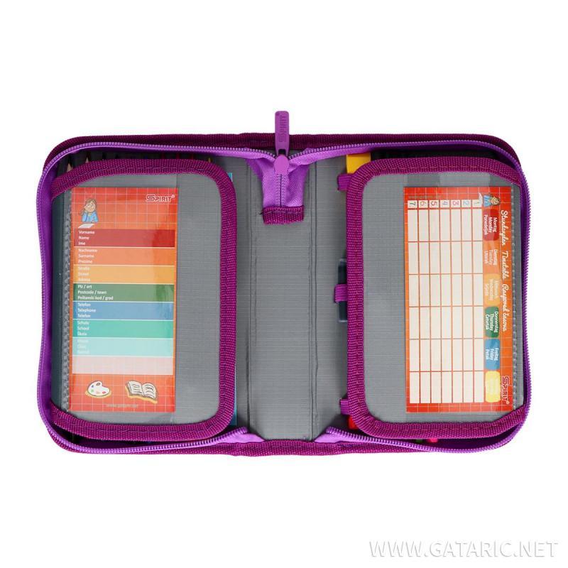 Pencil case 3D ''PURPLE BUTTERFLY'' 1-Zipper, 50-pcs