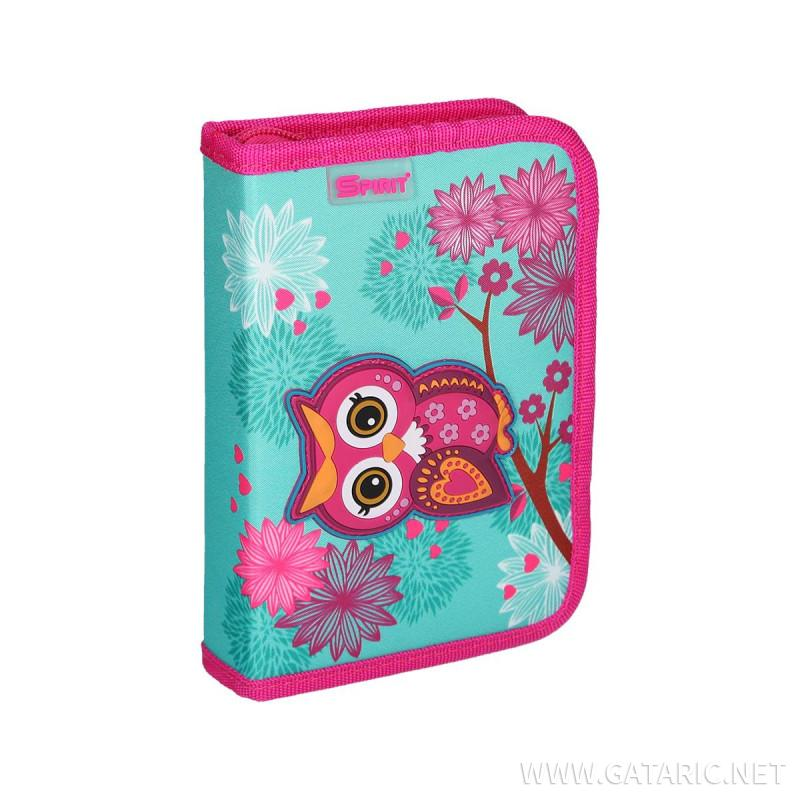 Pencil case 3D ''OWL'' 1-Zipper, 50-pcs