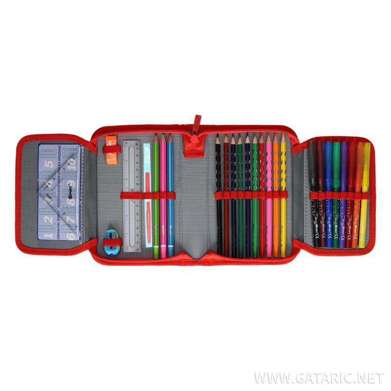 Pencil case 3D ''FORMULA'', 1-Zipper, 28-pcs
