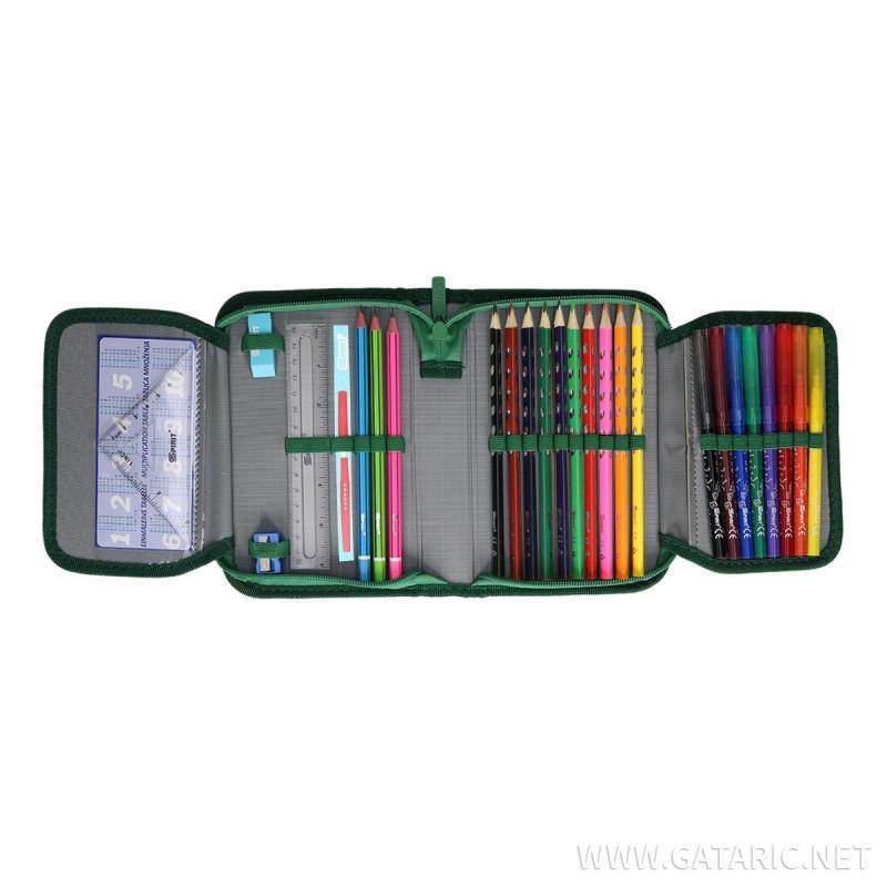 Pencil case 3D ''T-Rex'', 1-Zipper, 28-pcs