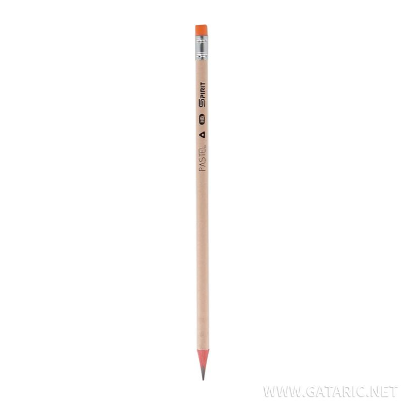 Wooden Pencils with Eraser ''Pastel'', 72/1