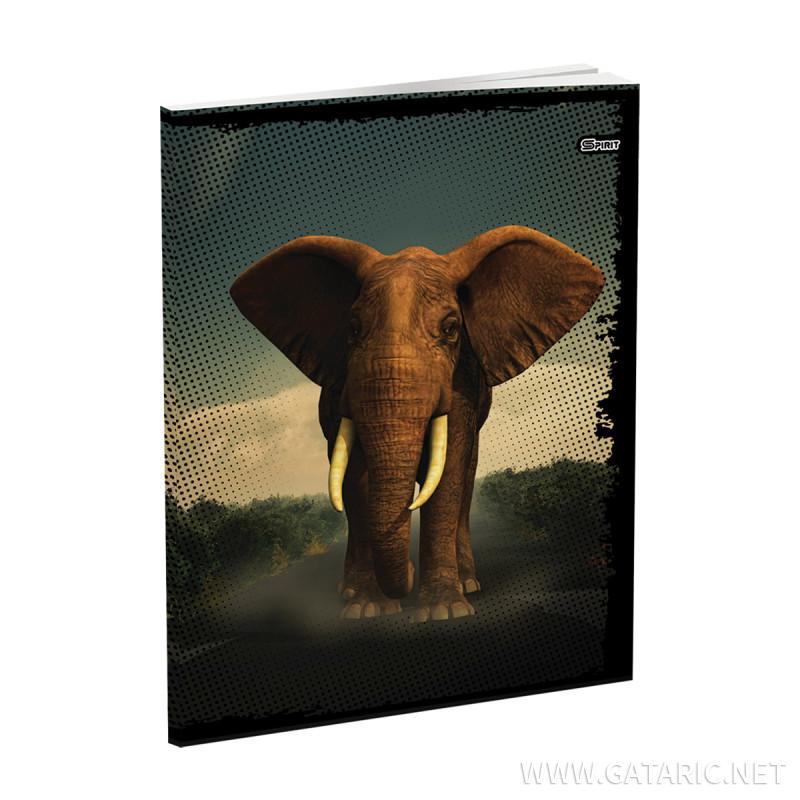 Schulheft A5, Softcover-Umschlag, Animals, 52 Blatt