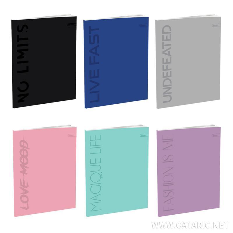 Schulheft A5, Softcover-Umschlag, Klar, 52 Blatt