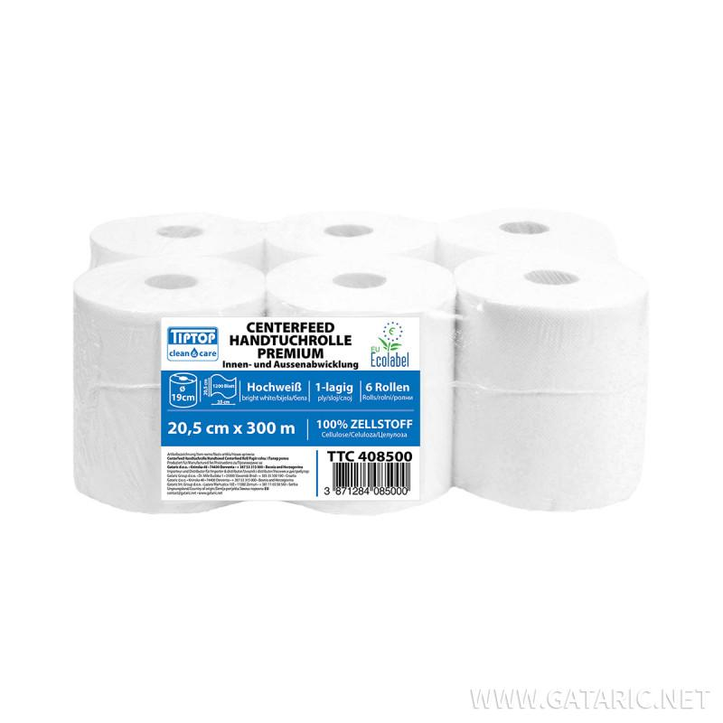 Paper towel rolls for center feed 300m