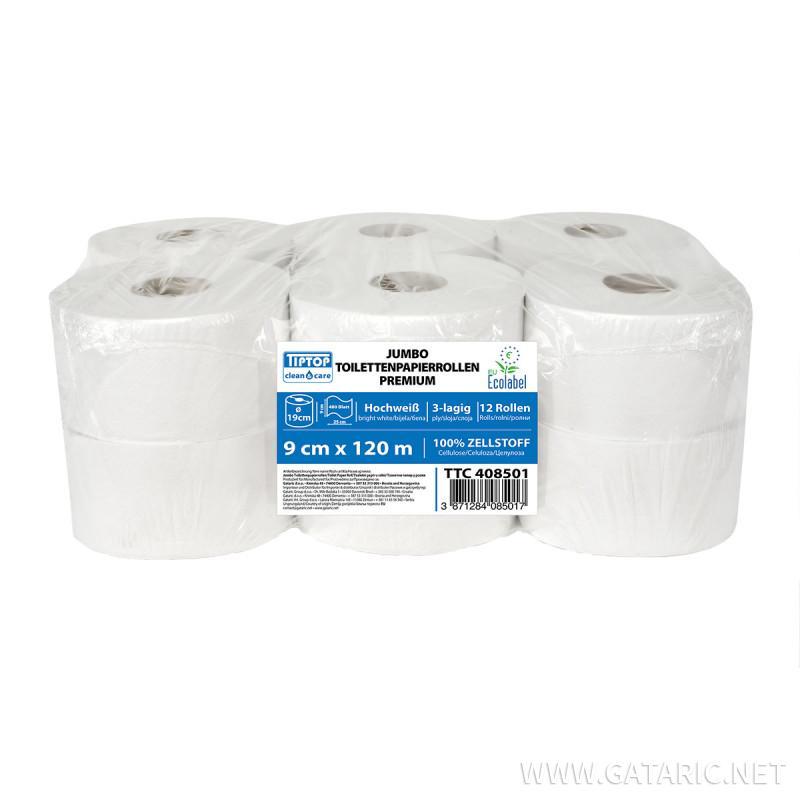 Jumbo toilet paper in rolls 120m