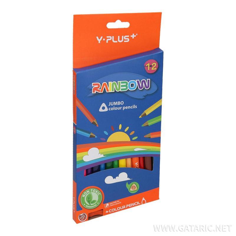Drvene boje Rainbow Jumbo 12/1 sa zarezačem