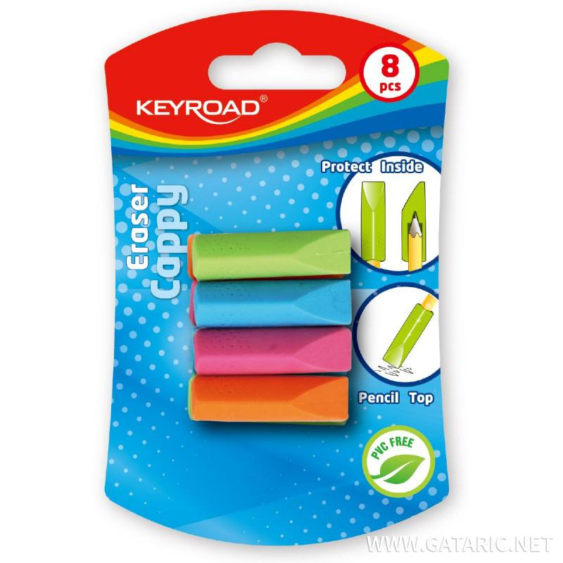 Eraser ''Cappy'', 8pcs blistercard