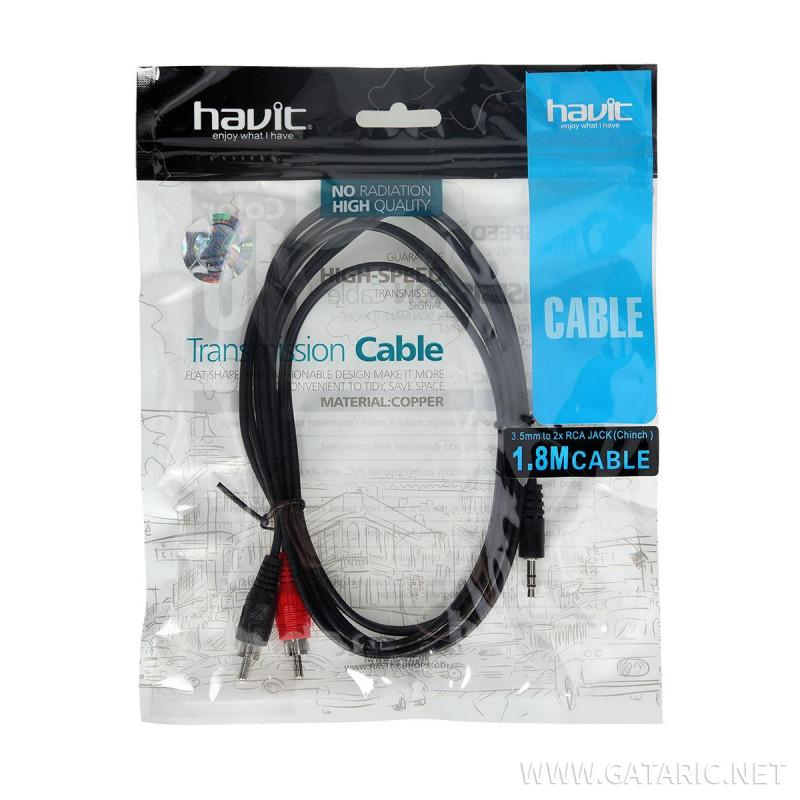 Audio cable ''VGA'', 1.8m, 3.5/3.5mm