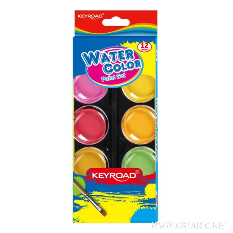 Vodene boje, 12-boja sa četkicom, 28mm