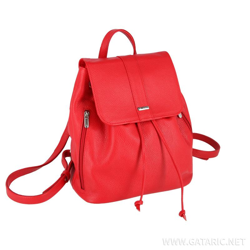 Falco kožni ruksak, crveni