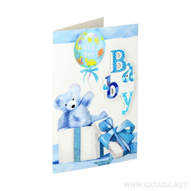 Čestitka 3D ''Baby boy 01''