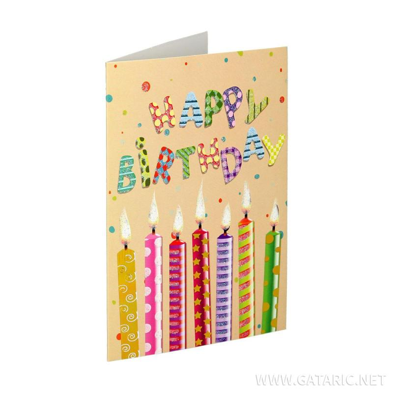 Čestitka 3D ''Happy birthday 06''